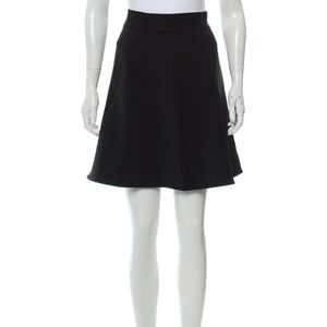 Kate Spade Black Tweed A-Line Pocket Skirt